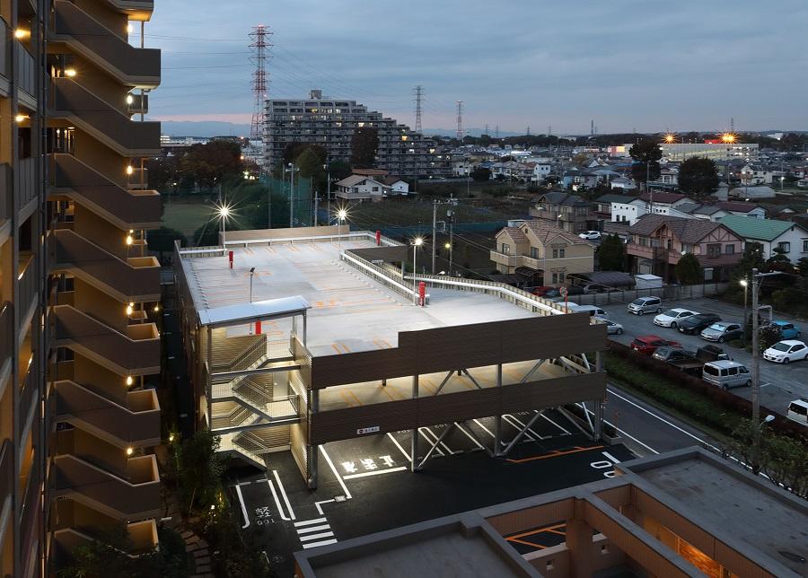 サンクレイドル昭島様の自走式立体駐車場新築工事